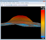 Screen snapshot showing Z-deviation of surface data from fitted polynomial