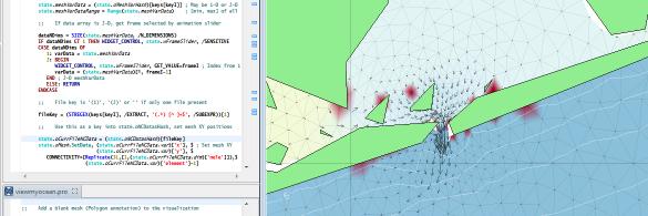 Visualizing Ocean Flow Model Data